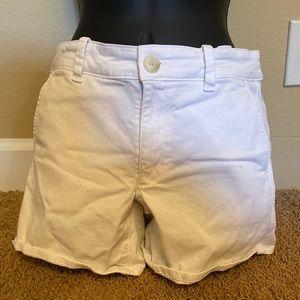 American Eagle Midi white shorts